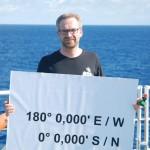 Helge-Ansgar Giebel an unserer Äquator-Station.