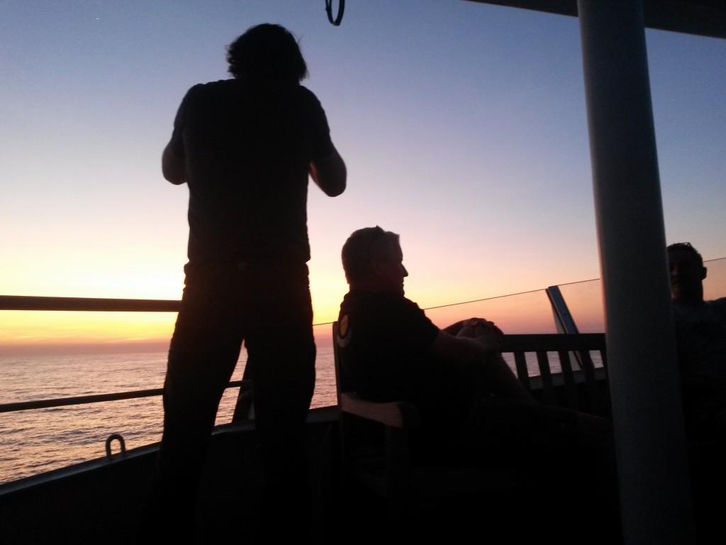 Gemeinsam den Sonnenuntergang angucken