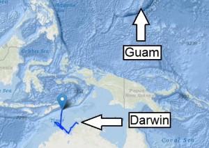 Weite Wege bis nach Guam