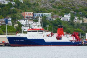 Die Maria S. Merian kurz vor der Abfaht im Hafen von St. John´s/Neufundland
